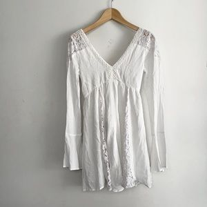 🏷 NWT ABERCROMBIE & FITCH Crochet White Dress - Size S